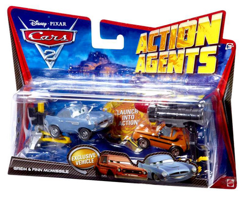 Disney / Pixar Cars Cars 2 Action Agents Grem & Finn McMissile Exclusive Plastic Car 2-Pack