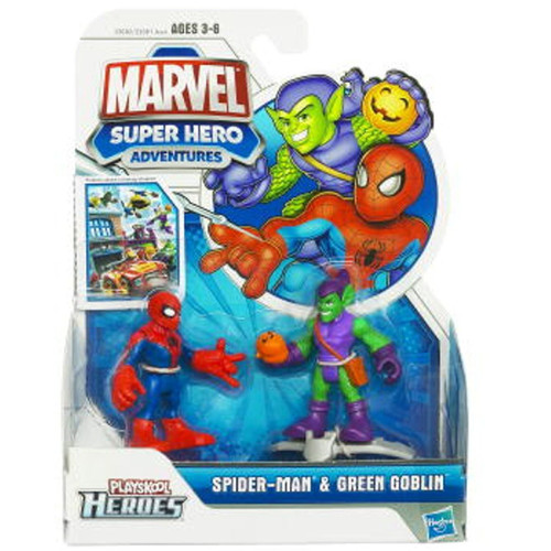 Marvel Playskool Heroes Super Hero Adventures Spider-Man & Green Goblin Action Figure 2-Pack [2011]