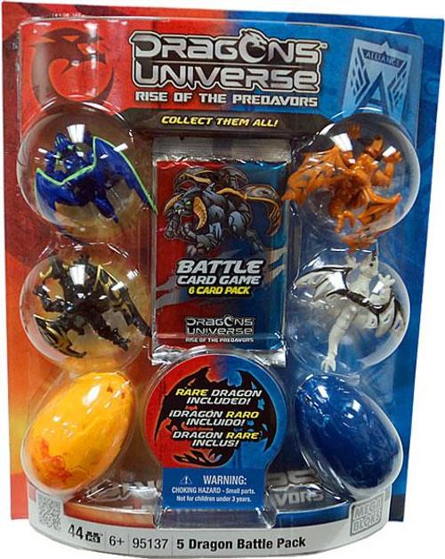 Mega Bloks Dragons Universe Rise of the Predavors 5 Dragon Battle Pack Set #95137