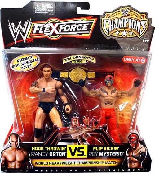 WWE Wrestling Battle Pack FlexForce Champions Hook Throwin' Randy Orton vs. Flip Kickin' Rey Mysterio Exclusive Action Figure 2-Pack