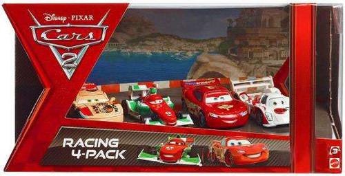 Disney / Pixar Cars Cars 2 Racing 4-Pack Camino, Bernoulli, McQueen & Todoroki Exclusive Diecast Car Set