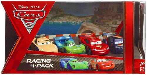 Disney / Pixar Cars Cars 2 Racing 4-Pack Gorvette, Veloso, McQueen & Schnell Exclusive Diecast Car Set