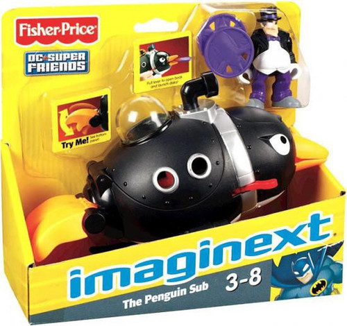 Fisher Price DC Super Friends Imaginext The Penguin Sub 3-Inch Figure Set