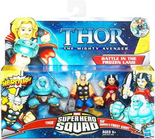 Marvel Thor The Mighty Avenger Super Hero Squad Battle in the Frozen Land Action Figure Set