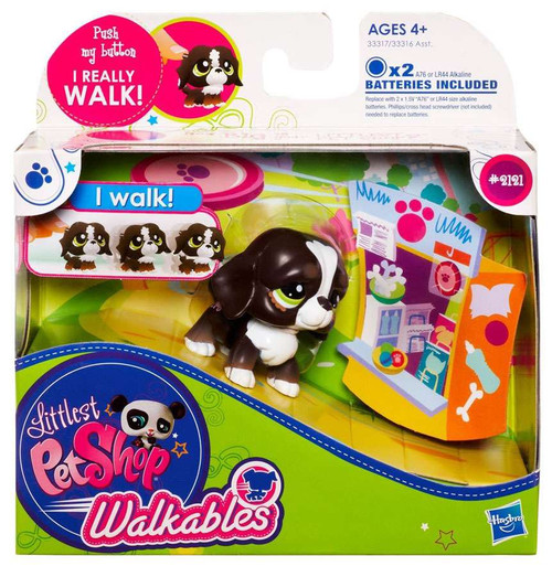 Littlest Pet Shop Walkables Dog Figure #2121 [Dark Brown]