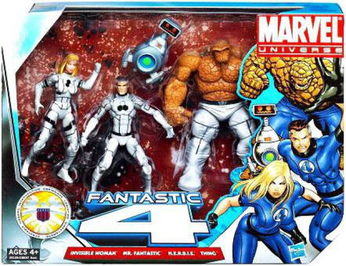 Marvel Universe Super Hero Team Packs Fantastic Four Action Figure 4-Pack [Future Foundation White Uniforms]