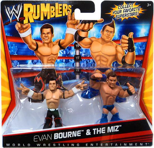 WWE Wrestling Rumblers Series 1 Evan Bourne & The Miz Mini Figure 2-Pack