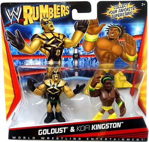 WWE Wrestling Rumblers Series 1 Goldust & Kofi Kingston [Yellow Outfit] Mini Figure 2-Pack