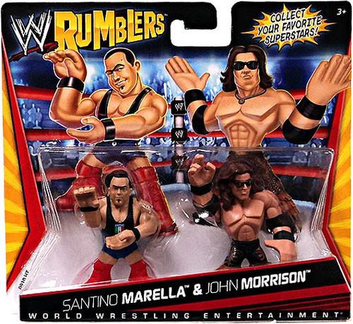 WWE Wrestling Rumblers Series 1 Santino Marella & John Morrison Mini Figure 2-Pack