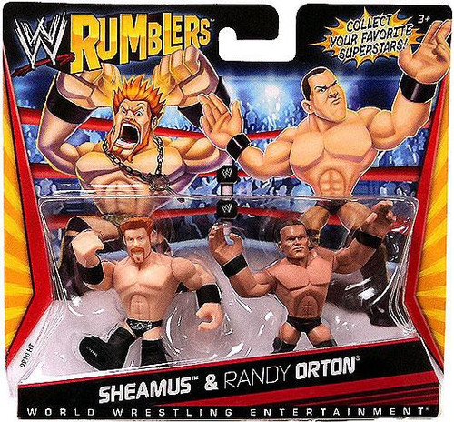 WWE Wrestling Rumblers Series 1 Sheamus & Randy Orton Mini Figure 2-Pack