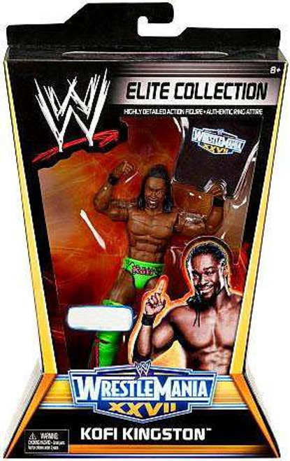 WWE Wrestling Elite Collection WrestleMania 27 Kofi Kingston Exclusive Action Figure
