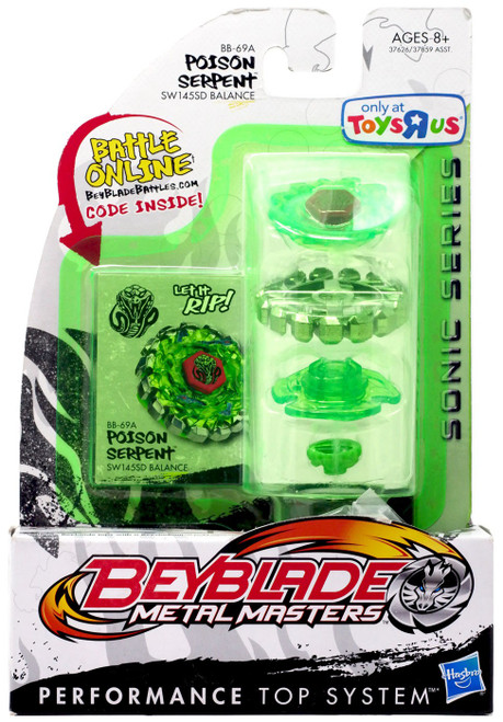 Beyblade Metal Masters Sonic Series Poison Serpent Exclusive Single Pack BB-69A