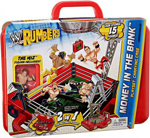 WWE Wrestling Rumblers Series 2 Money in the Bank Carrying Case Mini Figure Playset