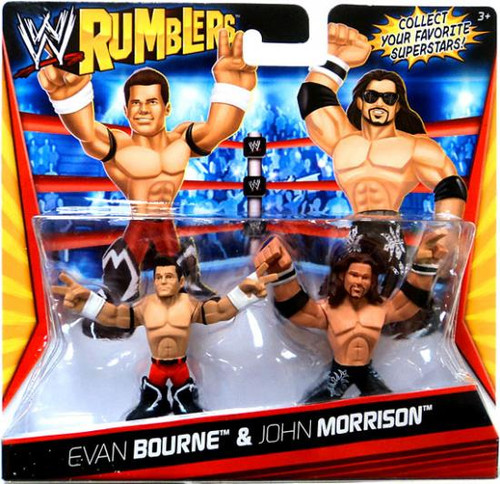 WWE Wrestling Rumblers Series 1 Evan Bourne & John Morrison Mini Figure 2-Pack