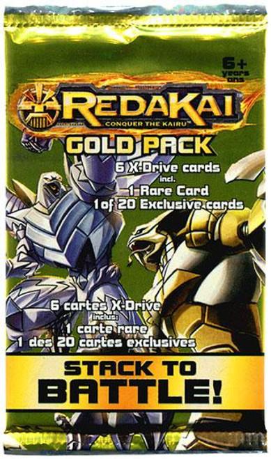 Redakai Conquer the Kairu MetaCharged Gold Booster HOBBY Pack