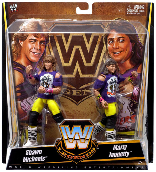WWE Wrestling Battle Pack Legends Shawn Michaels & Marty Jannetty Exclusive Action Figure 2-Pack [The Rockers]