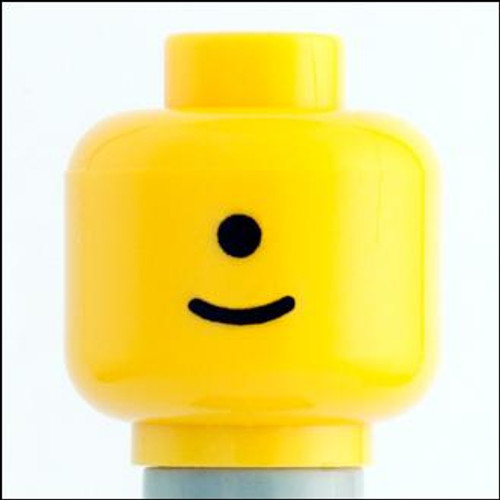 Citizen Brick Custom Printed Minifigure Parts Cyclops Loose Head [Loose]