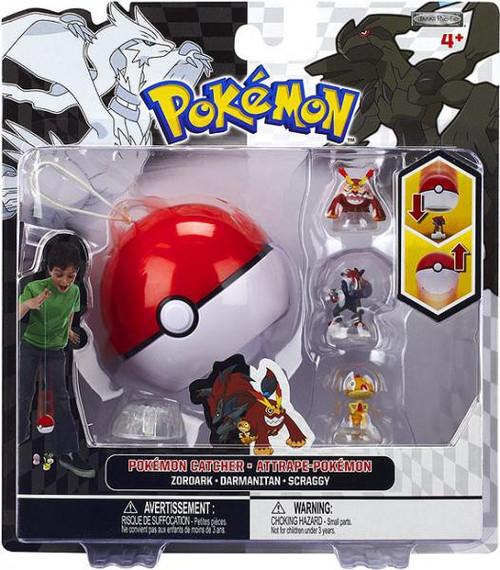 Pokemon Black & White Series 3 Catcher Zoroark, Darmanitan & Scraggy Figure 3-Pack