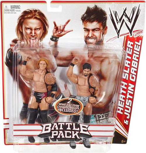 WWE Wrestling Battle Pack Series 14 Heath Slater & Justin Gabriel Action Figure 2-Pack