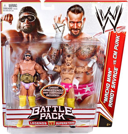 WWE Wrestling Battle Pack Series 14 Macho Man Randy Savage vs. CM Punk Action Figure 2-Pack