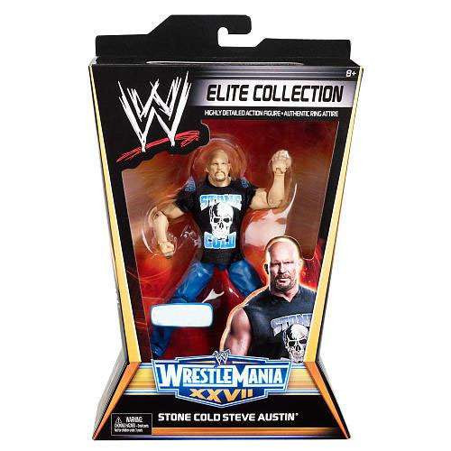 WWE Wrestling Elite Collection WrestleMania 27 Stone Cold Steve Austin Exclusive Action Figure