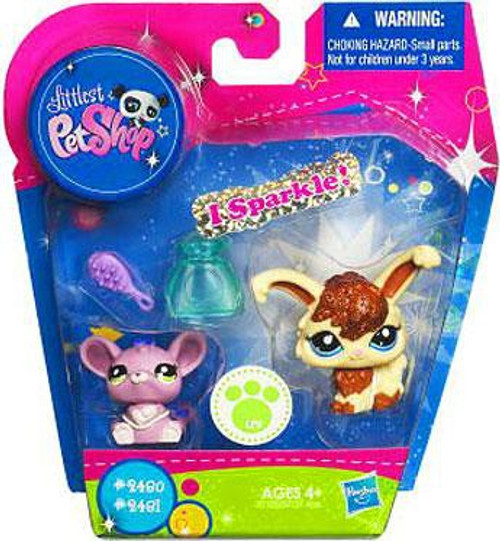 Littlest Pet Shop Angora Bunny & Mouse Exclusive Figure 2-Pack #2480, 2481