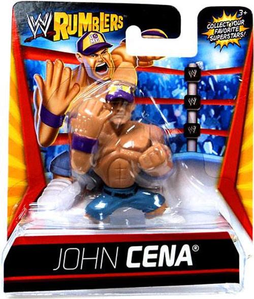 WWE Wrestling Rumblers Series 1 John Cena Mini Figure [Purple Hat]