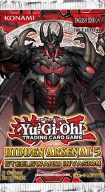 YuGiOh Trading Card Game Hidden Arsenal 5: Steelswarm Invasion Booster Pack [5 Cards]