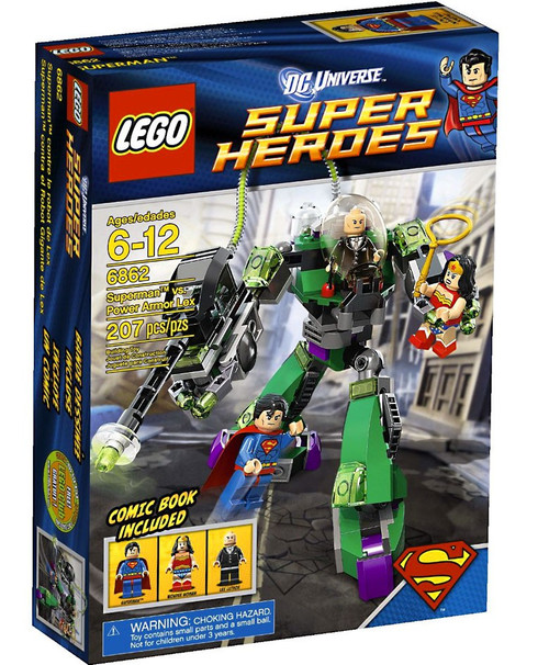 LEGO DC Universe Super Heroes Superman vs. Power Armour Lex Set #6862