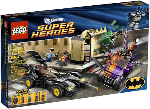 LEGO DC Universe Super Heroes Batmobile and the Two-Face Chase Set #6864