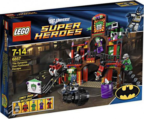 LEGO DC Universe Super Heroes The Dynamic Duo Funhouse Escape Exclusive Set #6857