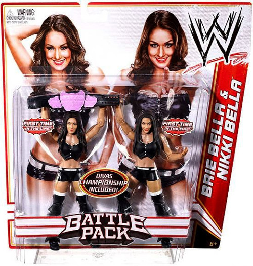 WWE Wrestling Battle Pack Series 15 Brie Bella & Nikki Bella Action Figure 2-Pack [Black Outfits]