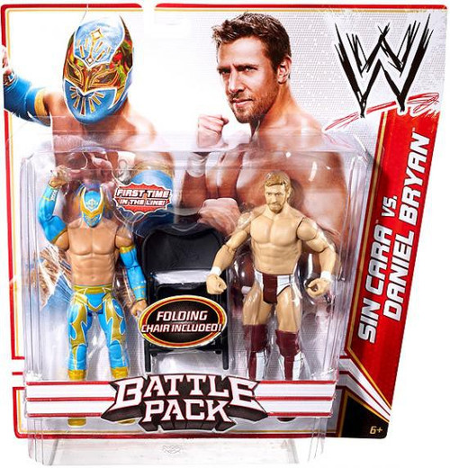 WWE Wrestling Battle Pack Series 15 Sin Cara vs. Daniel Bryan Action Figure 2-Pack [Folding Chair]