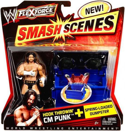 WWE Wrestling FlexForce Smash Scenes Hook Throwin' CM Punk Action Figure