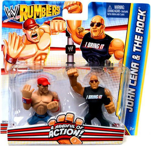 WWE Wrestling Rumblers Series 2 John Cena & The Rock Mini Figure 2-Pack