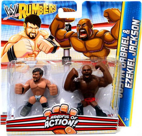 WWE Wrestling Rumblers Series 2 Justin Gabriel & Ezekiel Jackson Mini Figure 2-Pack