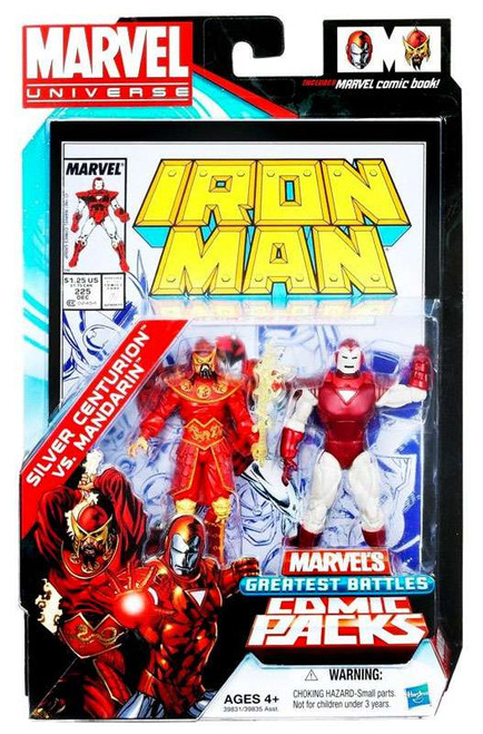 Marvel Universe Silver Centurion Vs. Mandarin Action Figure 2-Pack