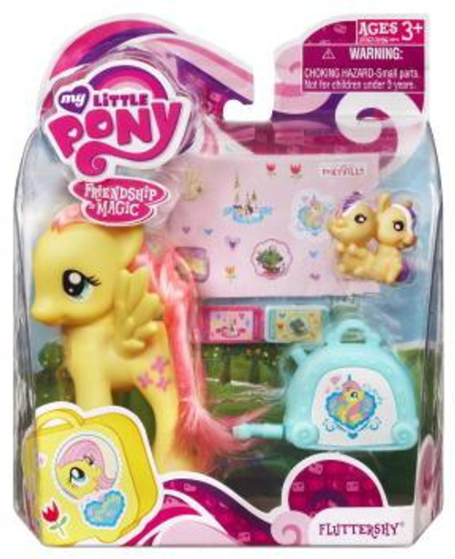 My Little Pony Friendship is Magic Basic Figures Fluttershy Figure #37067 [With Suitcase]