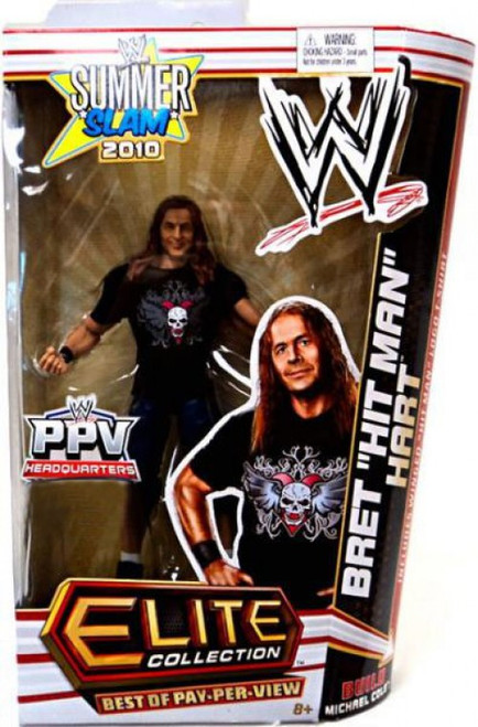 "WWE Wrestling Elite Collection Summer Slam 2010 Bret ""Hit Man"" Hart Exclusive Action Figure"