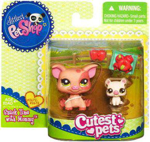 Littlest Pet Shop Cutest Pets Mommy & Baby Pigs Figure 2-Pack [Snack Time]