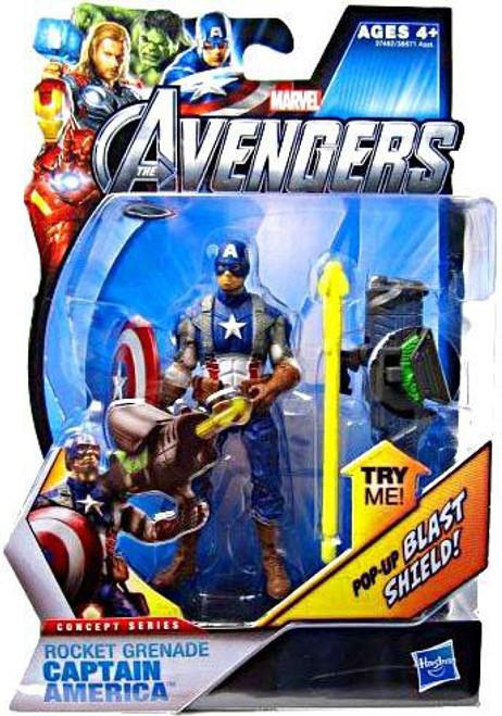 Marvel Avengers Concept Series Rocket Grenade Captain America Action Figure