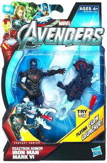 Marvel Avengers Concept Series Reactron Armor Iron Man Mark VI Action Figure