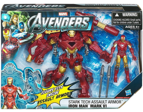 Marvel Avengers Movie Series Stark Tech Assault Armor Iron Man Mark VI Action Figure