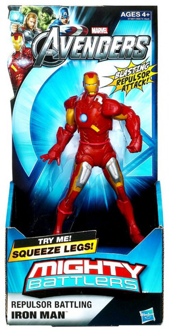 Marvel Avengers Mighty Battlers Repulsor Battling Iron Man Action Figure