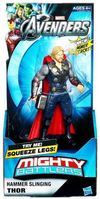 Marvel Avengers Mighty Battlers Hammer Slinging Thor Action Figure