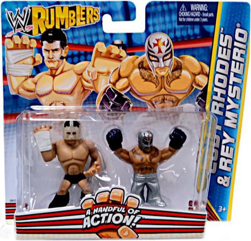 WWE Wrestling Rumblers Series 2 Cody Rhodes & Rey Mysterio Mini Figure 2-Pack