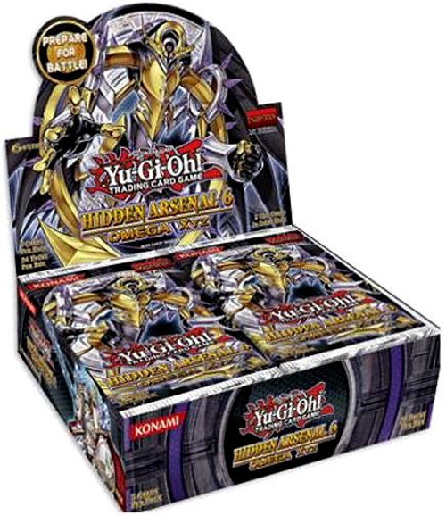 YuGiOh Trading Card Game Hidden Arsenal 6: Omega Xyz Booster Box [24 Packs]