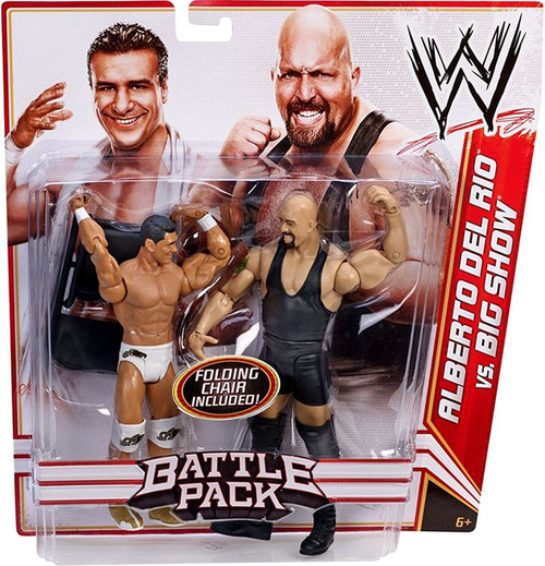 WWE Wrestling Battle Pack Series 16 Alberto Del Rio vs. Big Show Action Figure 2-Pack [Folding Chair]