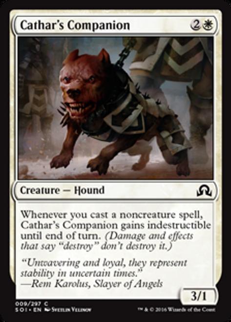 MtG Shadows Over Innistrad Common Cathar's Companion #9