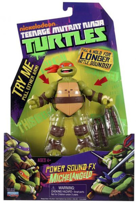 Teenage Mutant Ninja Turtles Nickelodeon Power Sound FX Michelangelo Action Figure